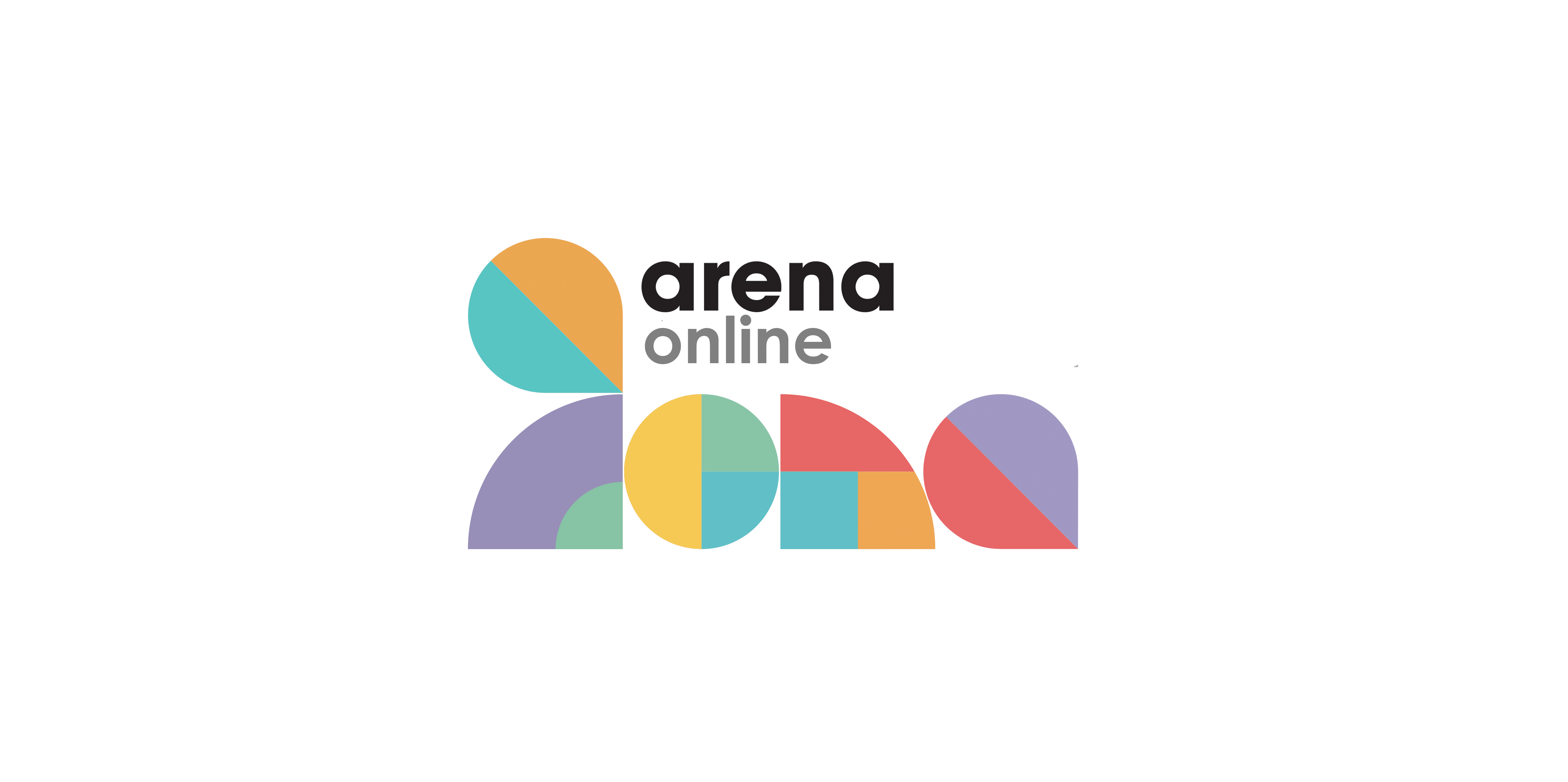 Arena Online text with 5 logo shapes